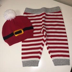 Knitted Santa Hat and Pants